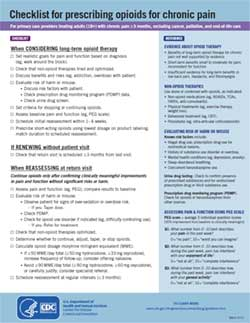 cdc checklist for prescribing opiods